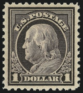 Sale Number 1062, Lot Number 713, 1917-19 Issues (Scott 481-524)$1.00 Violet Brown (518), $1.00 Violet Brown (518)