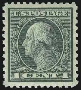 Sale Number 1062, Lot Number 729, 1918-20 Issues (Scott 525-547a)1c Green, Rotary Perf 11 x 10 (538), 1c Green, Rotary Perf 11 x 10 (538)