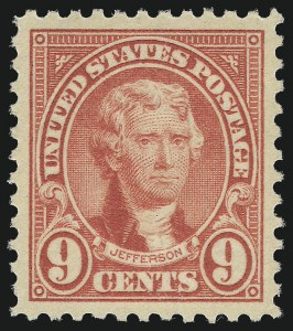 Sale Number 1062, Lot Number 739, 1922 and Later Issues (Scott 551-3260)9c Rose (561), 9c Rose (561)