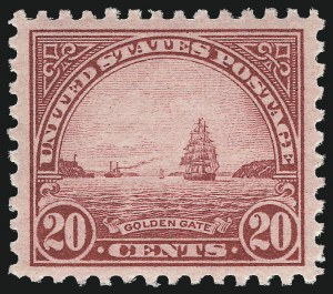 Sale Number 1062, Lot Number 743, 1922 and Later Issues (Scott 551-3260)20c Carmine Rose (567), 20c Carmine Rose (567)