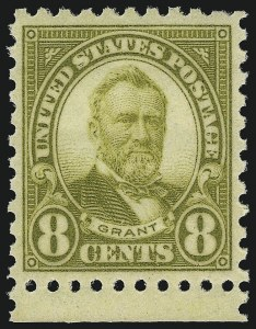 Sale Number 1062, Lot Number 747, 1922 and Later Issues (Scott 551-3260)8c Olive Green, Perf 10 (589), 8c Olive Green, Perf 10 (589)