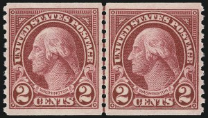 Sale Number 1062, Lot Number 751, 1922 and Later Issues (Scott 551-3260)2c Carmine Lake, Coil (599b), 2c Carmine Lake, Coil (599b)