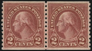Sale Number 1062, Lot Number 753, 1922 and Later Issues (Scott 551-3260)2c Carmine, Ty. II, Coil (599A), 2c Carmine, Ty. II, Coil (599A)