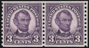 Sale Number 1062, Lot Number 754, 1922 and Later Issues (Scott 551-3260)3c Violet, Coil (600), 3c Violet, Coil (600)