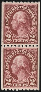 Sale Number 1062, Lot Number 756, 1922 and Later Issues (Scott 551-3260)2c Carmine Lake, Coil (606a), 2c Carmine Lake, Coil (606a)