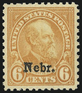 Sale Number 1062, Lot Number 766, 1922 and Later Issues (Scott 551-3260)6c Nebr. Ovpt. (675), 6c Nebr. Ovpt. (675)