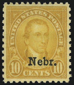 Sale Number 1062, Lot Number 768, 1922 and Later Issues (Scott 551-3260)10c Nebr. Ovpt. (679), 10c Nebr. Ovpt. (679)