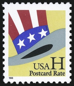 "Sale Number 1062, Lot Number 772, 1922 and Later Issues (Scott 551-3260)H Stamp, Uncle Sam's Hat, ""Postcard Rate"" (3260 var), H Stamp, Uncle Sam's Hat, ""Postcard Rate"" (3260 var)"