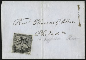 Sale Number 1063, Lot Number 1730, Local Posts: Adams thru Cummings & WrightD. O. Blood & Co., Philadelphia Pa., (2c) Black (15L5), D. O. Blood & Co., Philadelphia Pa., (2c) Black (15L5)