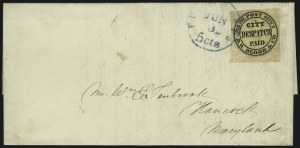 "Sale Number 1063, Lot Number 1731, Local Posts: Adams thru Cummings & WrightD. O. Blood & Co., Philadelphia Pa., (1c) Black, ""For the Post Office"" (15L9), D. O. Blood & Co., Philadelphia Pa., (1c) Black, ""For the Post Office"" (15L9)"