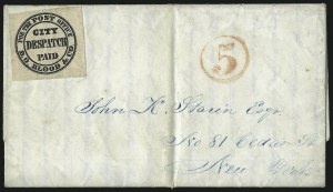 "Sale Number 1063, Lot Number 1732, Local Posts: Adams thru Cummings & WrightD. O. Blood & Co., Philadelphia Pa., (1c) Black, ""For the Post Office"" (15L9), D. O. Blood & Co., Philadelphia Pa., (1c) Black, ""For the Post Office"" (15L9)"