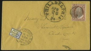 Sale Number 1063, Lot Number 1737, Local Posts: Adams thru Cummings & WrightBlood's City Despatch, Philadelphia Pa., (1c) Bronze on Lilac (15L14), Blood's City Despatch, Philadelphia Pa., (1c) Bronze on Lilac (15L14)