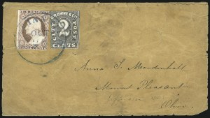Sale Number 1063, Lot Number 1756, Local Posts: Adams thru Cummings & WrightBrowne & Co.'s City Post Office, Cincinnati O., 2c Black (29L2), Browne & Co.'s City Post Office, Cincinnati O., 2c Black (29L2)