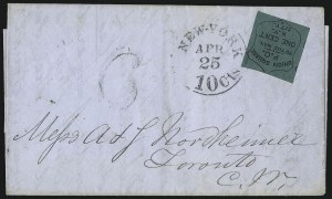 Sale Number 1063, Lot Number 1795, Local Posts cont: City Dispatch thru Whittelsey`s, Group LotsUnion Square Post Office, New York N.Y., 1c Black on Dark Green (141L1), Union Square Post Office, New York N.Y., 1c Black on Dark Green (141L1)