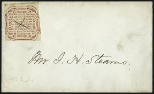 Sale Number 1063, Lot Number 1862, Western Mails cont: California Private PostsCalifornia City Letter Express Co., San Francisco, 10c Red, Type I (33L1), California City Letter Express Co., San Francisco, 10c Red, Type I (33L1)