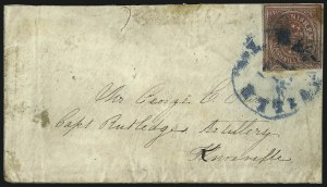 Sale Number 1063, Lot Number 2150, Confederate Use of U.S. Stamps and Confederate Postmasters ProvisionalsNashville Tenn., 5c Brick Red (61X3), Nashville Tenn., 5c Brick Red (61X3)