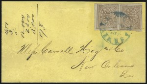 Sale Number 1063, Lot Number 2152, Confederate Use of U.S. Stamps and Confederate Postmasters ProvisionalsNashville Tenn., 5c Violet Brown (61X5), Nashville Tenn., 5c Violet Brown (61X5)