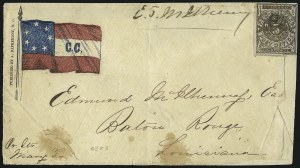 Sale Number 1063, Lot Number 2153, Confederate Use of U.S. Stamps and Confederate Postmasters ProvisionalsNew Orleans La., 5c Brown on White (62X3), New Orleans La., 5c Brown on White (62X3)