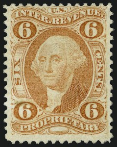 Sale Number 1066, Lot Number 64, First Issue Perforated6c Proprietary, Perforated (R31c), 6c Proprietary, Perforated (R31c)