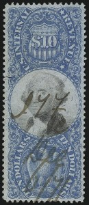 Sale Number 1066, Lot Number 84, Second Issue incl. Inverts$10.00 Blue & Black, Second Issue (R128), $10.00 Blue & Black, Second Issue (R128)