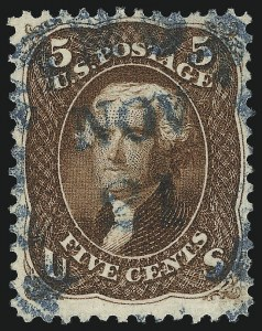 Sale Number 1067, Lot Number 1054, 1861-66 Issue, cont. (Scott 71-78b)5c Red Brown (75), 5c Red Brown (75)