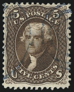 Sale Number 1067, Lot Number 1057, 1861-66 Issue, cont. (Scott 71-78b)5c Red Brown (75), 5c Red Brown (75)