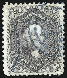 Sale Number 1067, Lot Number 1062, 1861-66 Issue, cont. (Scott 71-78b)24c Lilac (78), 24c Lilac (78)