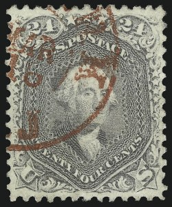Sale Number 1067, Lot Number 1066, 1861-66 Issue, cont. (Scott 71-78b)24c Gray (78b), 24c Gray (78b)
