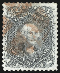 Sale Number 1067, Lot Number 1067, 1861-66 Issue, cont. (Scott 71-78b)24c Gray (78b), 24c Gray (78b)