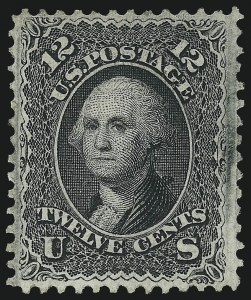 Sale Number 1067, Lot Number 1082, 1867-68 Grilled Issue and 1875 Re-Issue of 1861 Issue (Scott 84-111)12c Black, F. Grill (97), 12c Black, F. Grill (97)