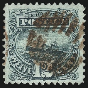 Sale Number 1067, Lot Number 1110, 1869 Pictorial Issue and 1875 Re-Issue (Scott 112b-133a)12c Green (117), 12c Green (117)