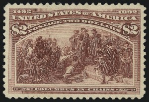 Sale Number 1067, Lot Number 1238, 1893 Columbian Issue (Scott 230-245)$2.00 Columbian (242), $2.00 Columbian (242)