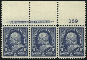 Sale Number 1067, Lot Number 1266, 1894-98 Bureau Issues (Scott 247-284)1c Blue (264), 1c Blue (264)