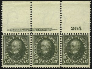 Sale Number 1067, Lot Number 1303, 1894-98 Bureau Issues (Scott 247-284)15c Olive Green (284), 15c Olive Green (284)