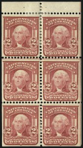 Sale Number 1067, Lot Number 1388, 1902-08 Issues (Scott 300-319)2c Carmine, Ty. I, Booklet Panes of Six (319g), 2c Carmine, Ty. I, Booklet Panes of Six (319g)