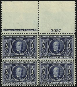 Sale Number 1067, Lot Number 1406, Louisiana Purchase, Jamestown and 1908-09 Issues (Scott 323-366)5c Louisiana Purchase (326), 5c Louisiana Purchase (326)