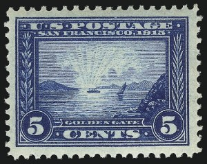 Sale Number 1067, Lot Number 1478, Panama-Pacific Issue (Scott 397-404)5c Panama-Pacific (399), 5c Panama-Pacific (399)