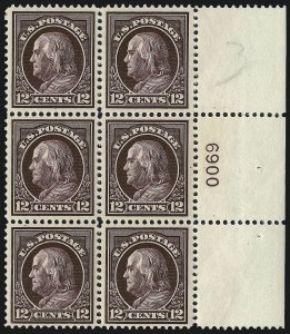 Sale Number 1067, Lot Number 1502, 1912-14 Issues (Scott 407-446)12c Claret Brown (417), 12c Claret Brown (417)