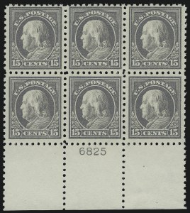 Sale Number 1067, Lot Number 1525, 1912-14 Issues (Scott 407-446)15c Gray (437), 15c Gray (437)