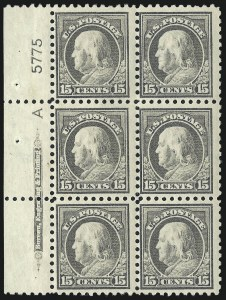 Sale Number 1067, Lot Number 1527, 1912-14 Issues (Scott 407-446)15c Gray (437), 15c Gray (437)
