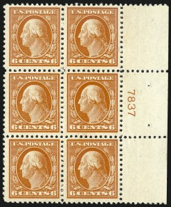 Sale Number 1067, Lot Number 1580, 1918-22 Issues (Scott 505-550)6c Red Orange (506), 6c Red Orange (506)
