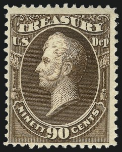 Sale Number 1067, Lot Number 1731, Officials, Newspapers, Parcel Post (Scott O, PR, Q)90c Treasury, Soft Paper (O113), 90c Treasury, Soft Paper (O113)