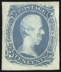 "Sale Number 1067, Lot Number 1788, Confederate States off-Cover10c Blue, ""TEN"" (9), 10c Blue, ""TEN"" (9)"