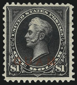 Sale Number 1067, Lot Number 1860, U.S. Possessions: Cuba thru HawaiiGUAM, 1899, $1.00 Black, Ty. II (13), GUAM, 1899, $1.00 Black, Ty. II (13)
