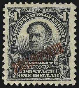 Sale Number 1067, Lot Number 1920, U.S. Possessions: Philippines, 1898-1903PHILIPPINES, 1903, $1.00 Black (237), PHILIPPINES, 1903, $1.00 Black (237)