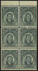 Sale Number 1067, Lot Number 1929, U.S. Possessions: Philippines, 1906-45PHILIPPINES, 1906, 2c Deep Green, Booklet Pane of Six (241b), PHILIPPINES, 1906, 2c Deep Green, Booklet Pane of Six (241b)