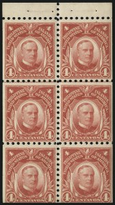 Sale Number 1067, Lot Number 1934, U.S. Possessions: Philippines, 1906-45PHILIPPINES, 1914, 4c Carmine, Booklet Pane of Six (277a), PHILIPPINES, 1914, 4c Carmine, Booklet Pane of Six (277a)