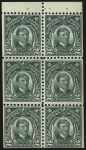 Sale Number 1067, Lot Number 1937, U.S. Possessions: Philippines, 1906-45PHILIPPINES, 1918, 2c Green, Booklet Pane of Six (285a), PHILIPPINES, 1918, 2c Green, Booklet Pane of Six (285a)