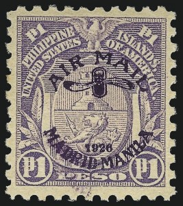 Sale Number 1067, Lot Number 1951, U.S. Possessions: Philippines, Air Post thru Postage DuePHILIPPINES, 1926, 2c-1p Madrid-Manila Flight Issue, Air Post (C1-C6, C9-C12, C17), PHILIPPINES, 1926, 2c-1p Madrid-Manila Flight Issue, Air Post (C1-C6, C9-C12, C17)