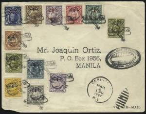 Sale Number 1067, Lot Number 1953, U.S. Possessions: Philippines, Air Post thru Postage DuePHILIPPINES, 1926, 2c-1p Madrid-Manila Flight Issue, Air Post (C1-C6, C9-C12, C17), PHILIPPINES, 1926, 2c-1p Madrid-Manila Flight Issue, Air Post (C1-C6, C9-C12, C17)
